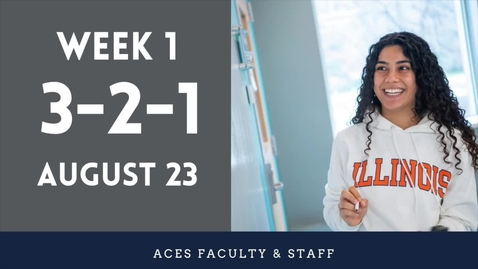 Thumbnail for entry ACES 3-2-1 Fall 2021 Faculty Update Week 1