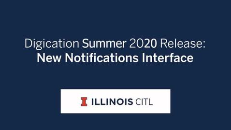 Thumbnail for entry New Notifications Interface to be Released Summer 2020
