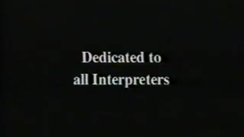 Thumbnail for entry The Interpreters: a Historical Perspective
