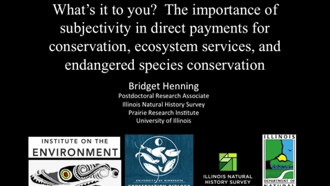Thumbnail for entry NRES 2015 Fall Seminar Series - Bridget Henning