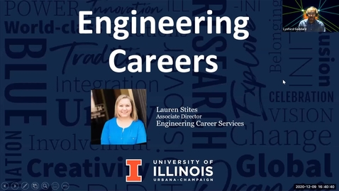 Thumbnail for entry Engineering Careers, Internships, and Readiness with Lauren Stites, Engineering Career Services