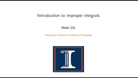 Thumbnail for entry Improper integrals