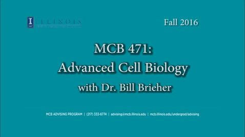 Thumbnail for entry MCB 471- Conversation with Dr. Bill Brieher