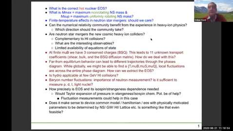 Thumbnail for entry Workshop: Heavy-ions to Neutron Stars: Day 3 Discussion+Summary