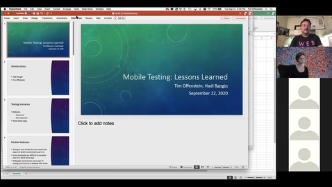 Thumbnail for entry Lessons Learned: Testing Rokwire on the Mobile Platform