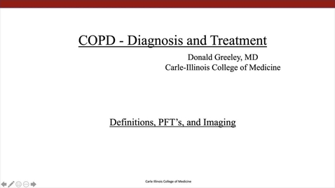Thumbnail for entry COPD - Diagnosis and Treatment