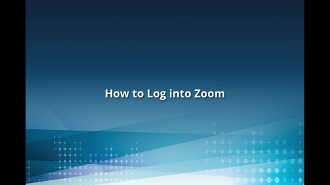 Thumbnail for entry How to Log into Zoom on the Web