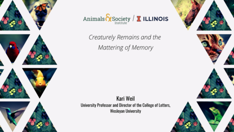 Thumbnail for entry Kari Weil, Creaturely Remains and the Mattering of Memory, 2021 ASI UI Summer Institute