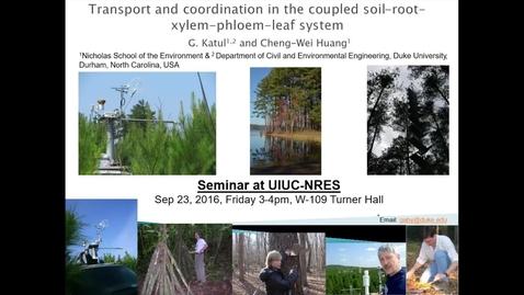 NRES 2016 Fall Seminar - Gabriel Katul