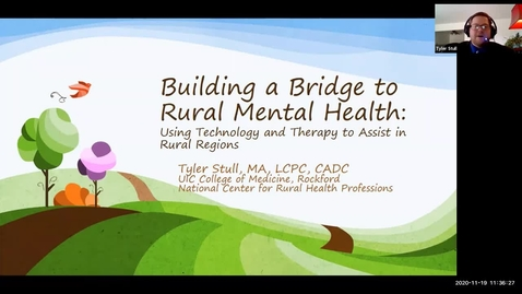 Thumbnail for entry BHWELL CEU event 11.19.2020 Rural Mental Health Video