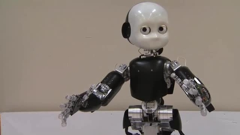 Thumbnail for entry Child-sized, artificially intelligent robot ICUB learns through experience