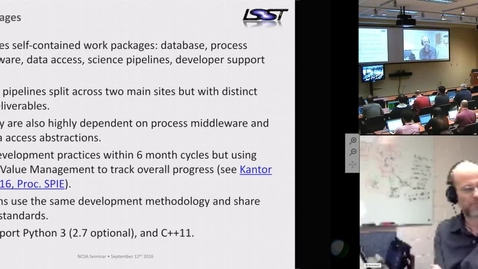 Thumbnail for entry NCSA Software Meeting - 2016-09-12 Tim Jenness - Jonathan Sick, LSST
