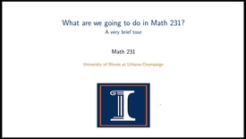Thumbnail for entry A brief tour of Math 231