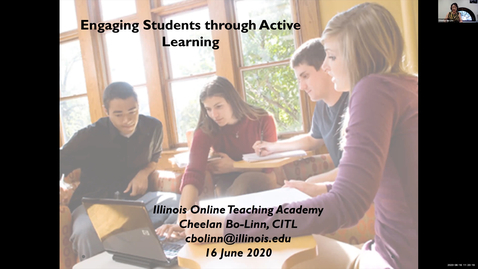 Thumbnail for entry OTA: Engaging Students through Active Learning in a Synchronous Online Session
