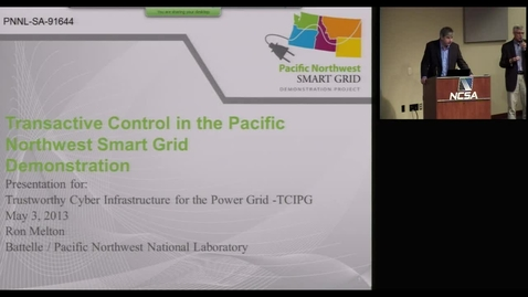 Thumbnail for entry Transactive Control in the Pacific Northwest Smart Grid Demonstration