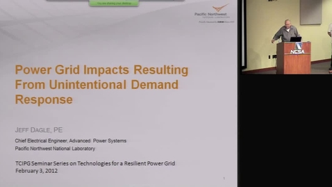 Thumbnail for entry Power Grid Impacts Resulting From Unintentional Demand Response