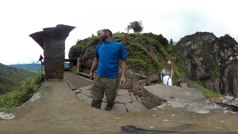 Thumbnail for entry 360 video Bhutan Tigers Nest test