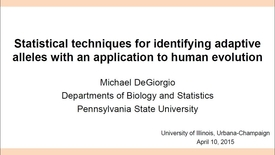 Thumbnail for entry NRES 2015 Spring Seminar Series - Michael DeGiorgio
