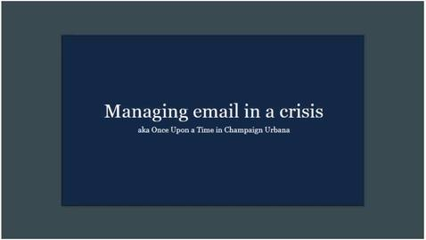 Thumbnail for entry Caffeine Break - Brian Mertz - Managing email in a crisis - April 17, 2020