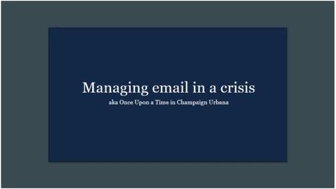 Thumbnail for entry Caffeine Break - Brian Mertz - Managing email in a crisis - April 17, 2020