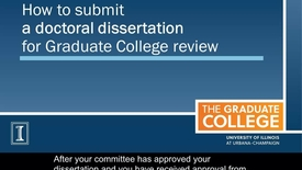 Thumbnail for entry How to Submit a Doctoral Dissertation