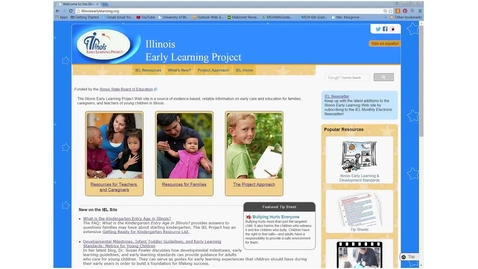 Thumbnail for entry Illinois Early Learning Project website and its resources related to the Illinois Early Learning Guidelines for Children Birth to Age 3.