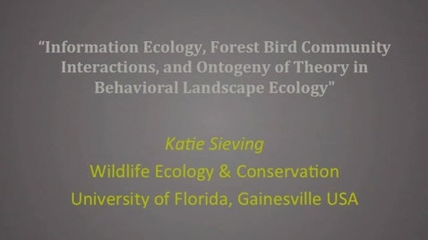 Thumbnail for entry NRES 2011 Fall Seminar Series - Katie Sieving