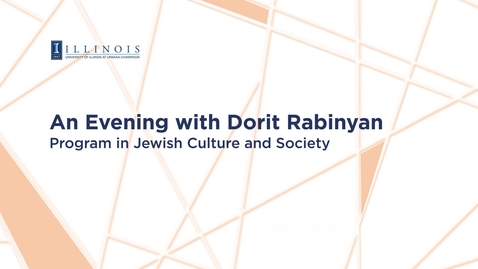 Thumbnail for entry 2017-10-16 - An Evening with Dorit Rabinyan
