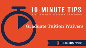 Thumbnail for entry 10-Minute Tips: Graduate Tuition Waivers