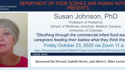 Thumbnail for entry FSHN 597 Fall 2020 Graduate Seminar- Dr. Susan Johnson- Oct. 23, 2020