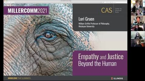 Thumbnail for entry Lori Gruen, Empathy and Justice Beyond the Human, MillerComm2021
