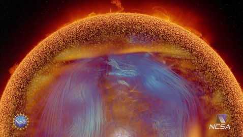 Thumbnail for entry Solar Superstorms visualization excerpt: Solar Dynamo / Solar Interior