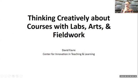 Thumbnail for entry OTA: Thinking Creatively about Courses with Labs, Arts and Fieldwork