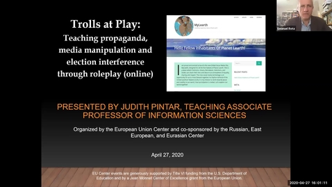 Thumbnail for entry Trolls at Play: Teaching Propaganda, Media Manipulation, and Election Interference through Role-Play (Online)