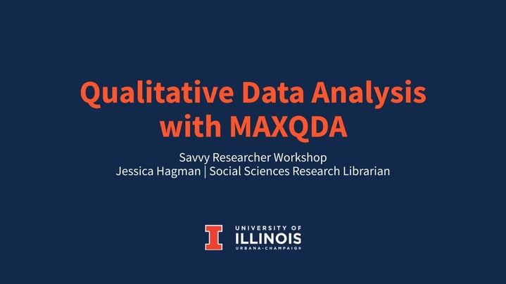 Thumbnail for channel Qualitative Data Analysis Workshops