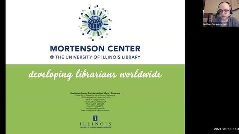 """Thumbnail for entry """"International Librarianship Discussion with Clara M. Chu"""" hosted by the ALA@UIUC student chapter"""