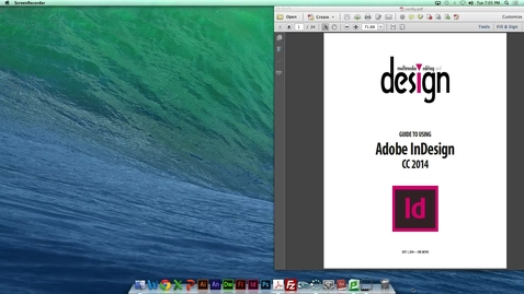 Thumbnail for entry MDIA290 - Basic InDesign features