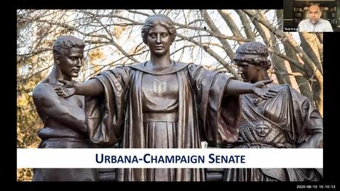 Thumbnail for entry Academic Senate Meeting, Aug. 10, 2020