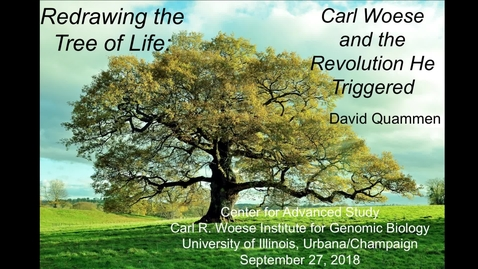 Thumbnail for entry David Quammen, Carl Woese and the Revolution He Triggered, CAS@60