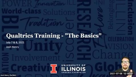 Thumbnail for entry ACES Qualtrics Training - The Basics