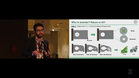 Thumbnail for entry 2019 Research Live! Mehmet Yalcin Aydin: Who is Smarter? Tomopology Optimization of Heat Sinks