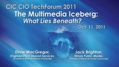 Thumbnail for entry The Multimedia Iceberg: What Lies Beneath?