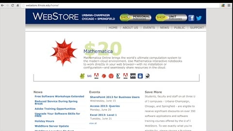 Thumbnail for entry Save Money on Software at the U of I WebStore