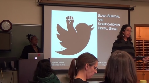 Dr. Krystal Smalls Lecture 1 -  Born Digital Records from the Anthropology Colloquium Audiovisuals, Series 15/2/5
