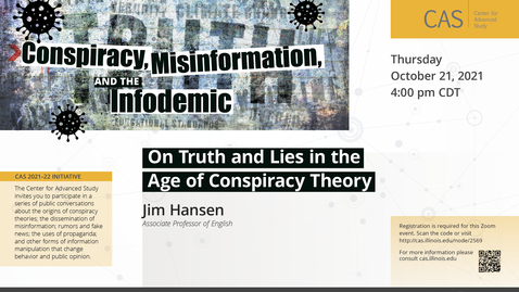 Thumbnail for entry On Truth and Lies in the Age of Conspiracy Theory