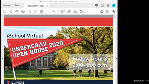 Thumbnail for entry iSchool Virtual Open House Video Recording 2020