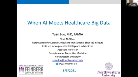 Thumbnail for entry AI Center Summer Seminar Series - Speaker: Yuan Luo, Ph. D., Northwestern University