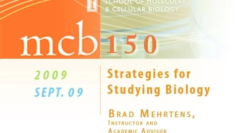 Thumbnail for entry Strategies for Studying Biology