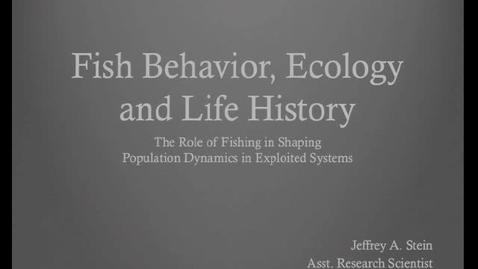 Thumbnail for entry NRES 2011 Fall Seminar Series - Jeffrey A. Stein