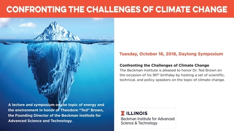 "Thumbnail for entry ""Confronting the Challenges of Climate Change"" by Rattan Lal (Climate Change Symposium)"
